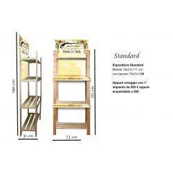 espositore  standard 73x31x190