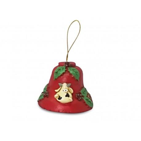campana natalizia mucca rossa