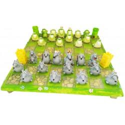 scacchi rane/topi  con base (completo)