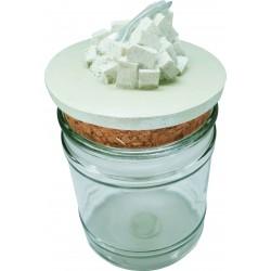 Vaso in Vetro con tappo in sughero Zucchero