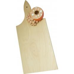 tagliere in legno con porta stucchini da denti mortadella