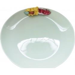 Piatto Aperitivo in Porcellana Formaggio e Prosciutto