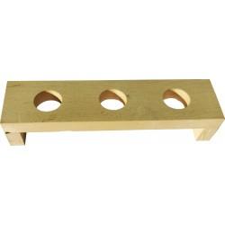 espositore 3 fori legno per turaccioli