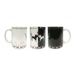 Tazza Gatti bianco e nero