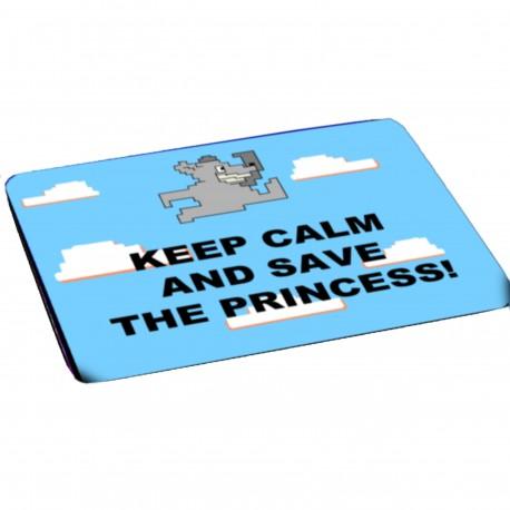 mousepad keep calm and save the princess