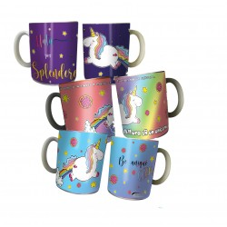 24 pz tazze unicorno